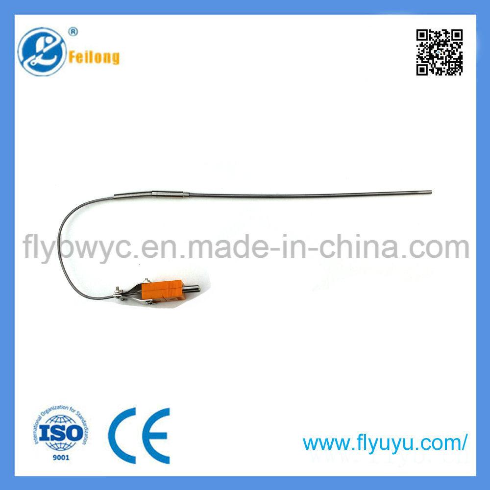 Needle-Shaped K Type Flexible Temperature Sensor with Plug