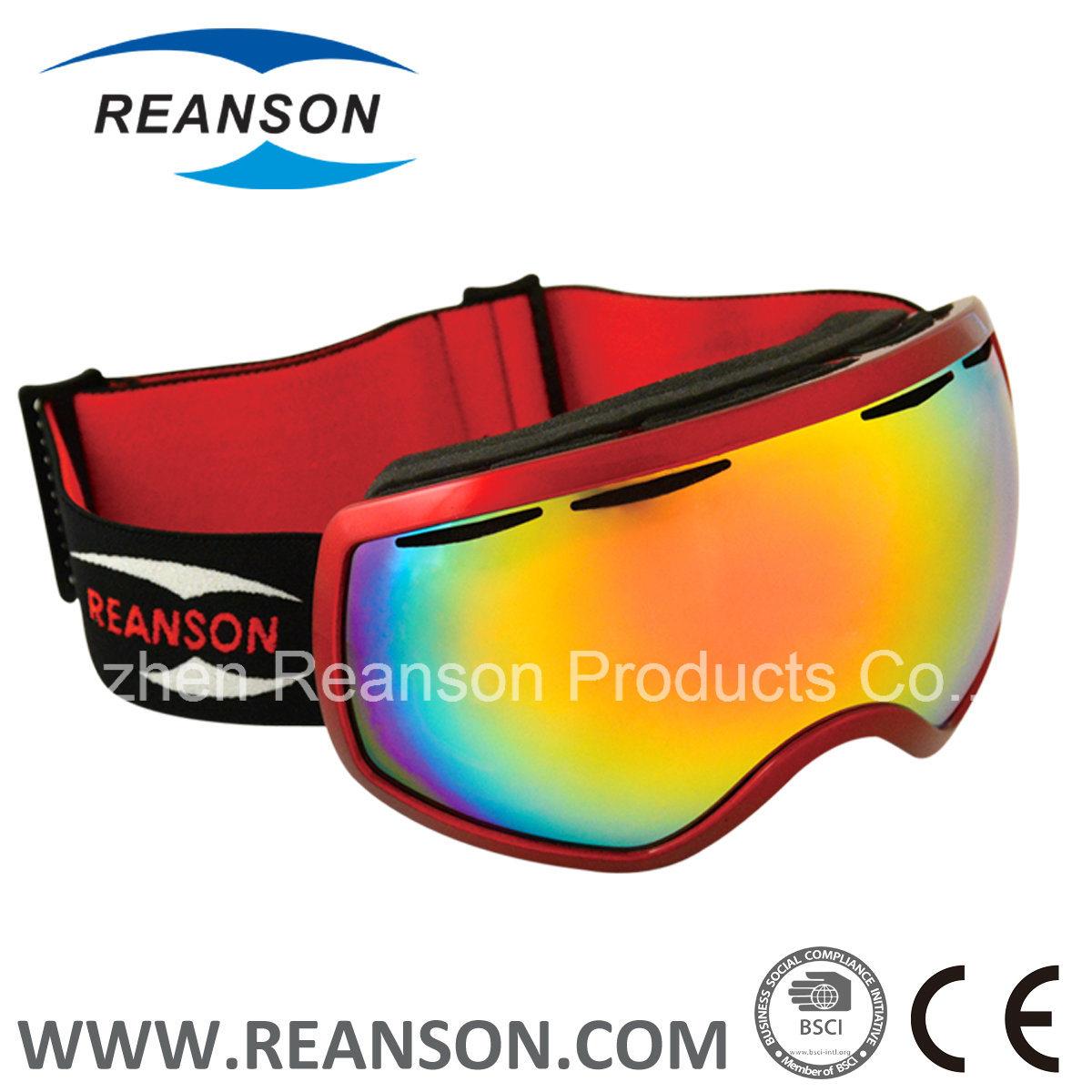 Reanson Double Lenses Anti-Fog Skiing Goggles