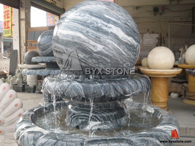 Marble/Granite Stone Elephant Water Garden Fountain for Decoration