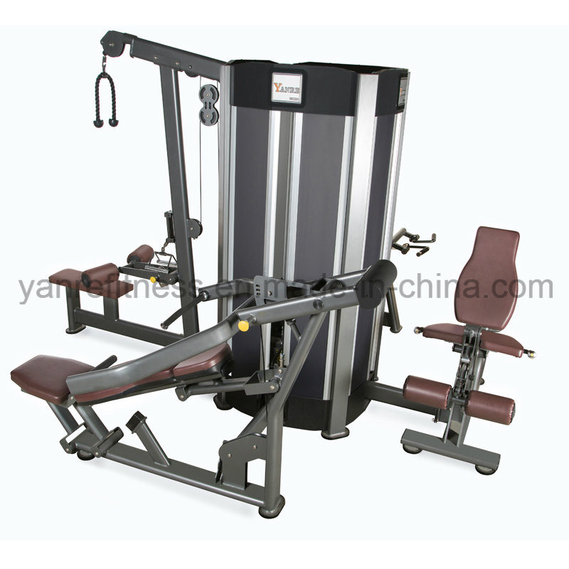Multistation 4 Stations 8 Functions Body Building Machine Multifunction Integrated Combination