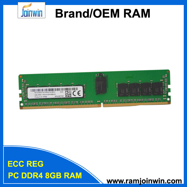 726718-B21 PC4-17000 Cl15 2rx8 1.2V DDR4 8GB Server RAM