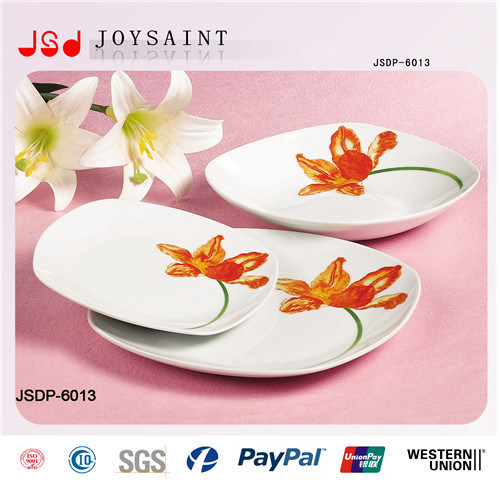 12PCS Square Shape Ceramic Dinnerware