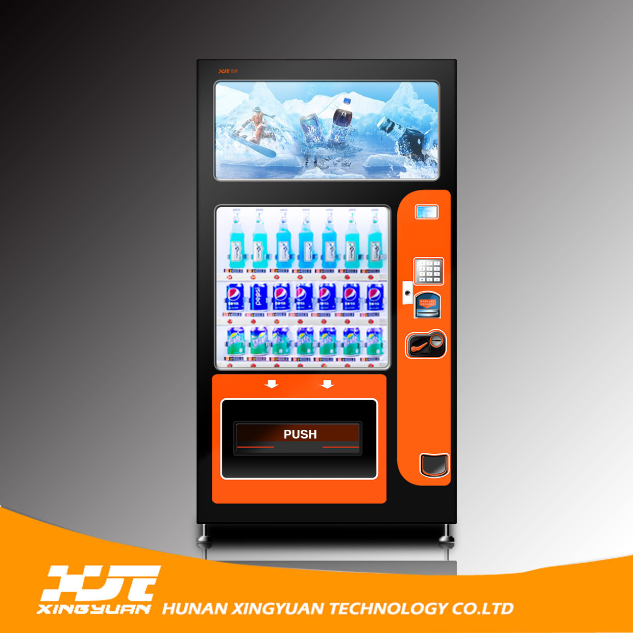 Credit Card Support! Refrigerated Drinks Vending Machines with 32 Inches Touch Screen