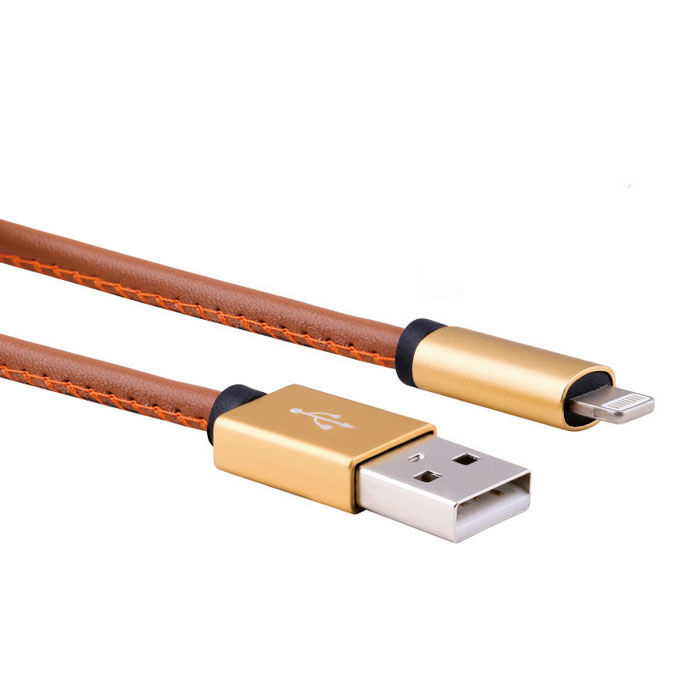 Creative Mobile Phone Accessories 2.4A Pure Leather USB Cable