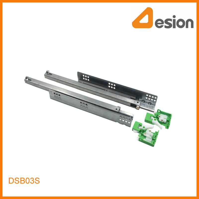 Handle Locking Concealed Soft Closing Under Mounting Slides