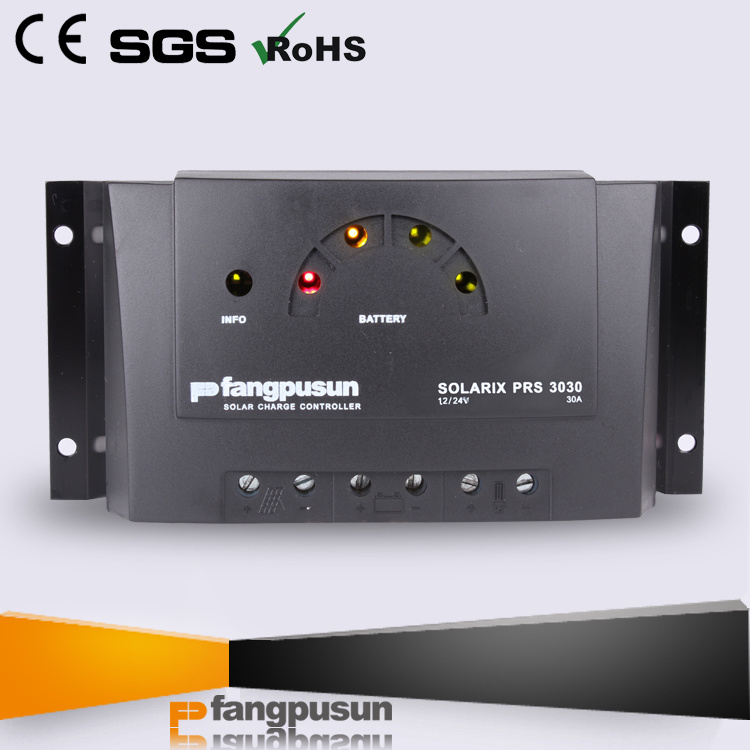 Ce RoHS Fangpusun LED Display Street Light System 30A Hybrid Solar Charge Controller 12V 24V