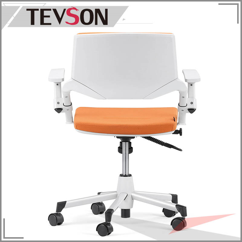 Modern Plastic Shell with Foam and Fabric Staff Office Swivel Task Clerk Chair