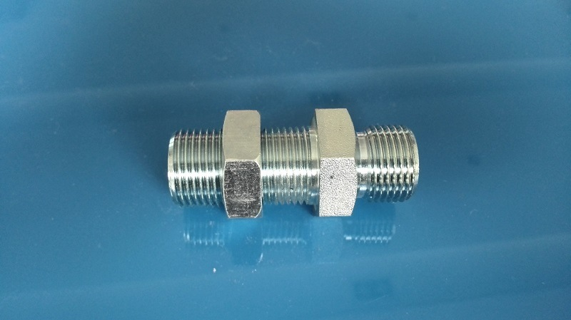 Bsp Bulkhead Straight with Nut Tube Fitting (6B-LN)
