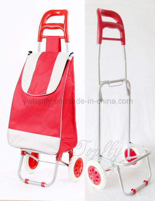 Portable Collapsible Shopping Cart with Metal Frame