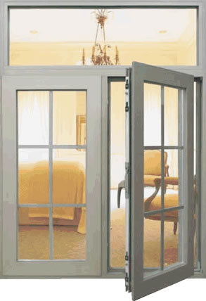 Aluminium Casement Window with Gril Thermal Break Aluminium Casement Window