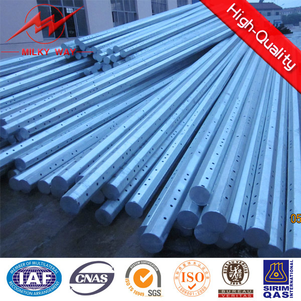 Hot DIP Galvanization Transmission Electric Power Steel Tubular Pole
