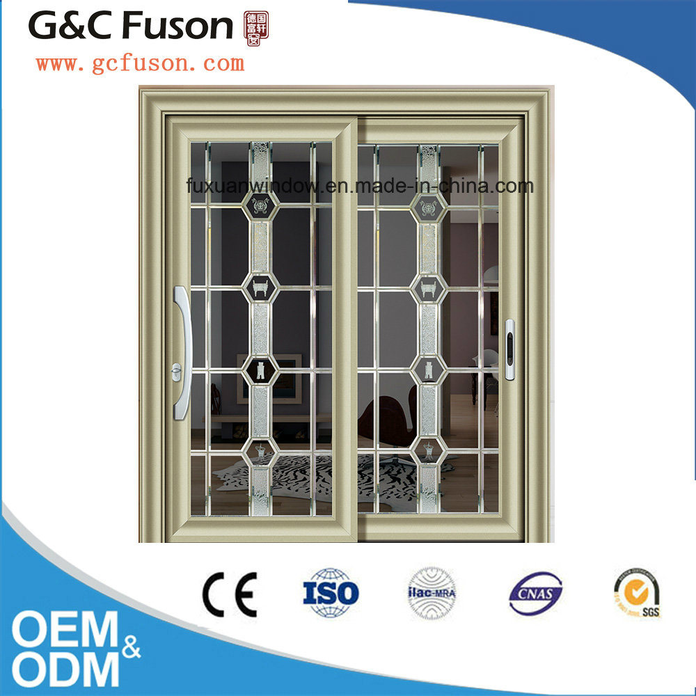 Made in China Aluminum Double Tempered Glass Sliding Door Manufacturer