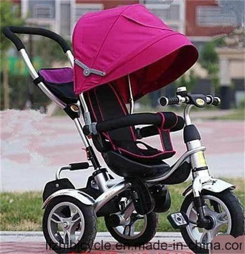 Three Wheel Baby Tricycle with Push Handbar