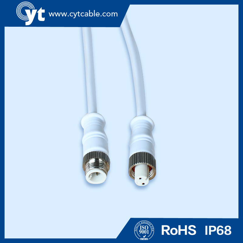 2 Pin Metal Male Female M12 Waterproof Cable Connector for LED Outdoor Lighting
