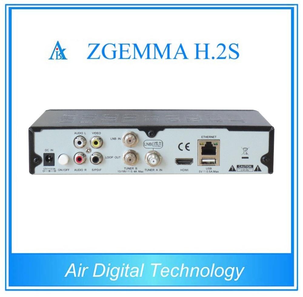 Satellite Receiver Zgemma H. 2s with Dual Core DVB-S2+DVB-S2 Twin Tuner