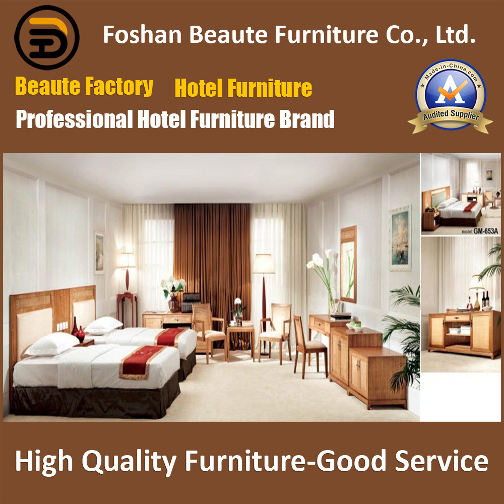 Hotel Furniture/Luxury Double Bedroom Furniture/Standard Hotel Double Bedroom Suite/Double Hospitality Guest Room Furniture (GLB-0109822)