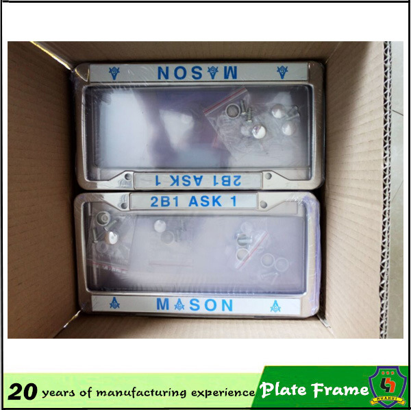 2016 Top Sale Wholesale Best Price Plastic Custom License Plate Frames