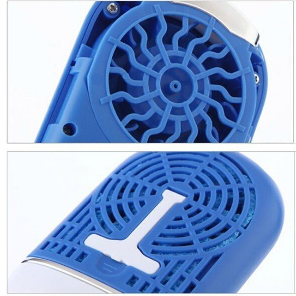 Mini Portable USB Rechargeable Bladeless Wet Sponge Desk Handheld Fan