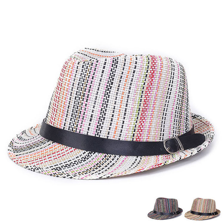 Men Ladies Fashion Summer Colorful PVC Straw Bucket Hat (YKY3239)
