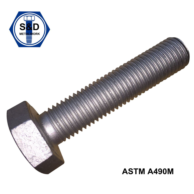 A490m 10s High Tensile Bolts Full Thread Dacromet