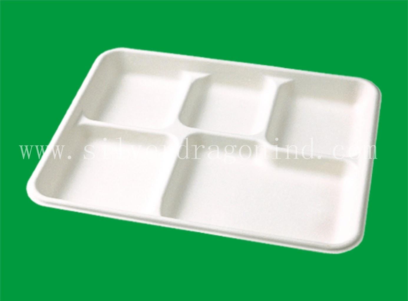 Biodegradable Disposable Compostable Sugarcane Bagasse Paper Plate
