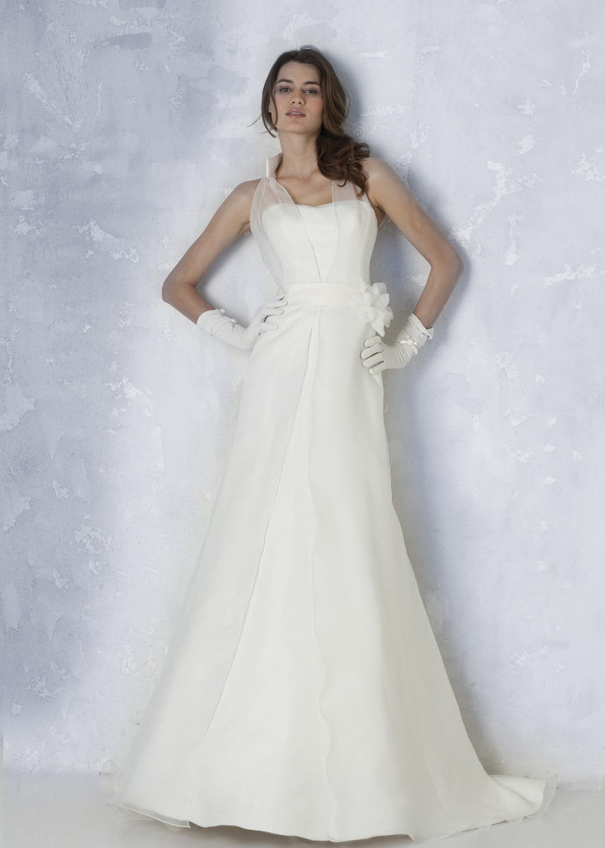 China halter organza a line bridal dress gown 4008 for Aline halter wedding dresses