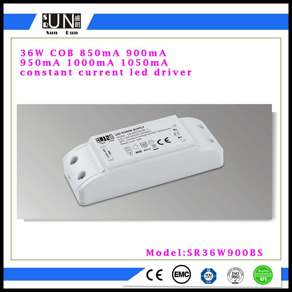 30W - 36W LED Power Supply, 850mA 1000mA 1050mA 900mA 36W Power Supply, High Power Factor, LED Power Driver