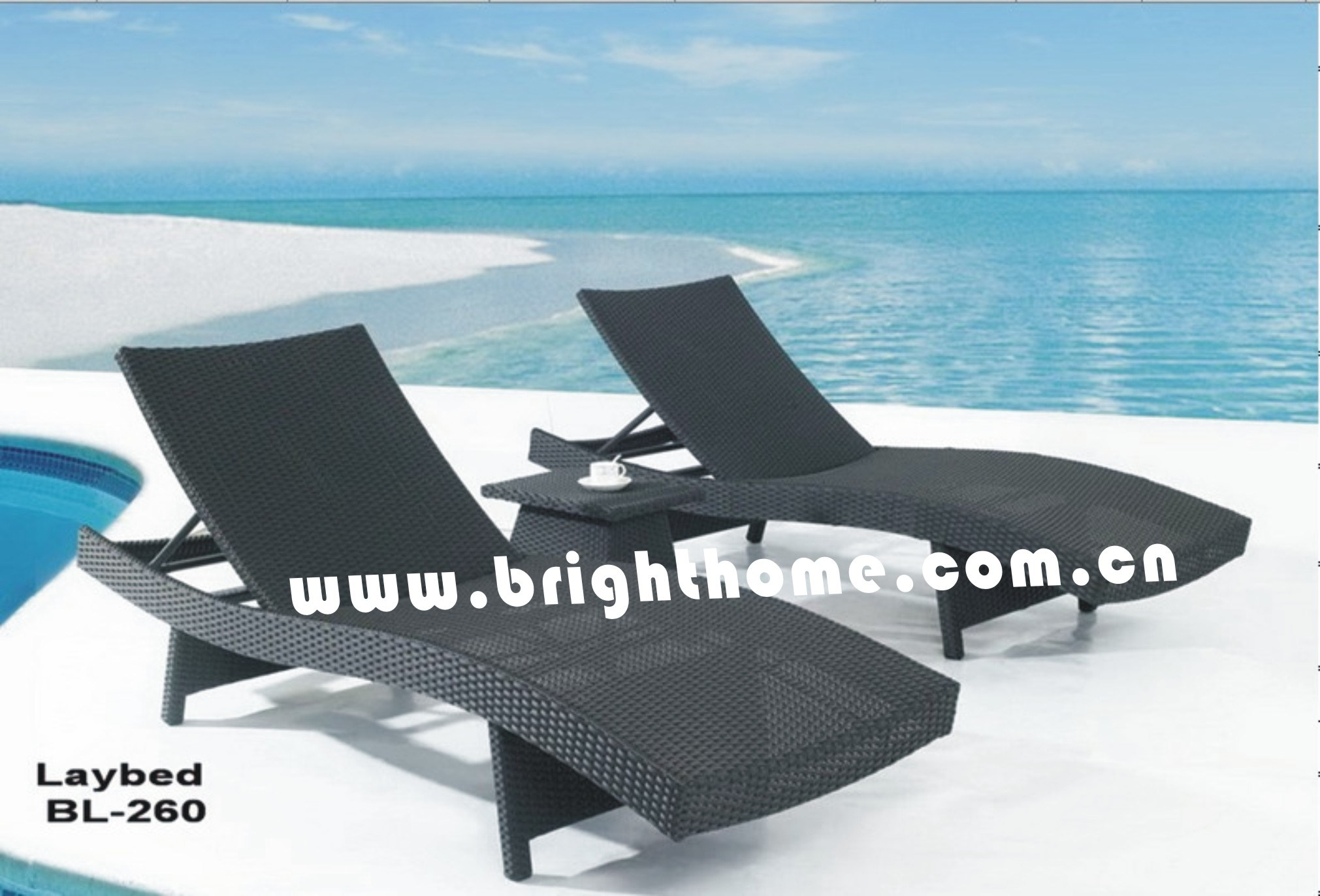 Day Bed / Laybed / Outdoor Lounge / Beach Bed / Beach Chair (BL-260)