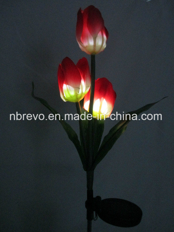 3LED Solar Garden Rose Flower Light (RS126)