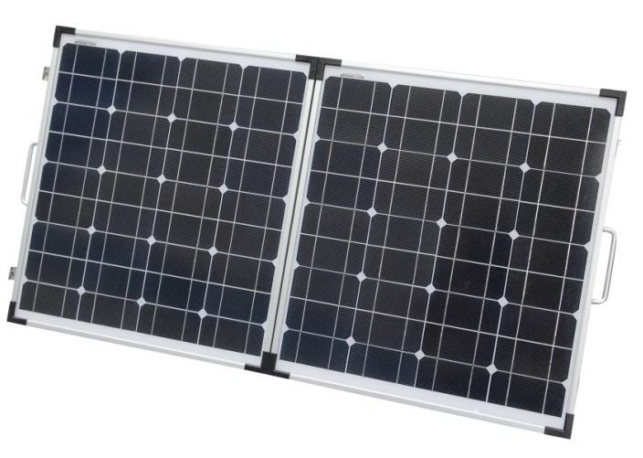 90W Mono Portable Folding Solar Panel for Camping.