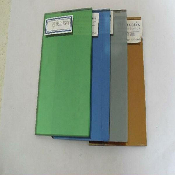 4-10mm Dark Green /Dark Blue /Pink /Grey /Bronze Reflective Glass