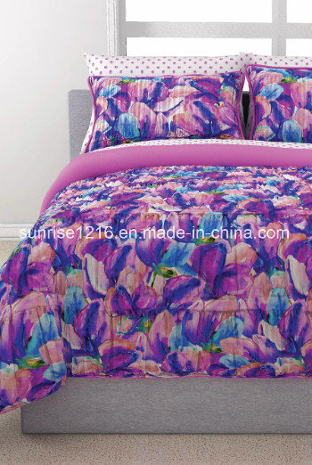 Quilt Sr-CS170222-12 Printed Microfiber Comforter Set