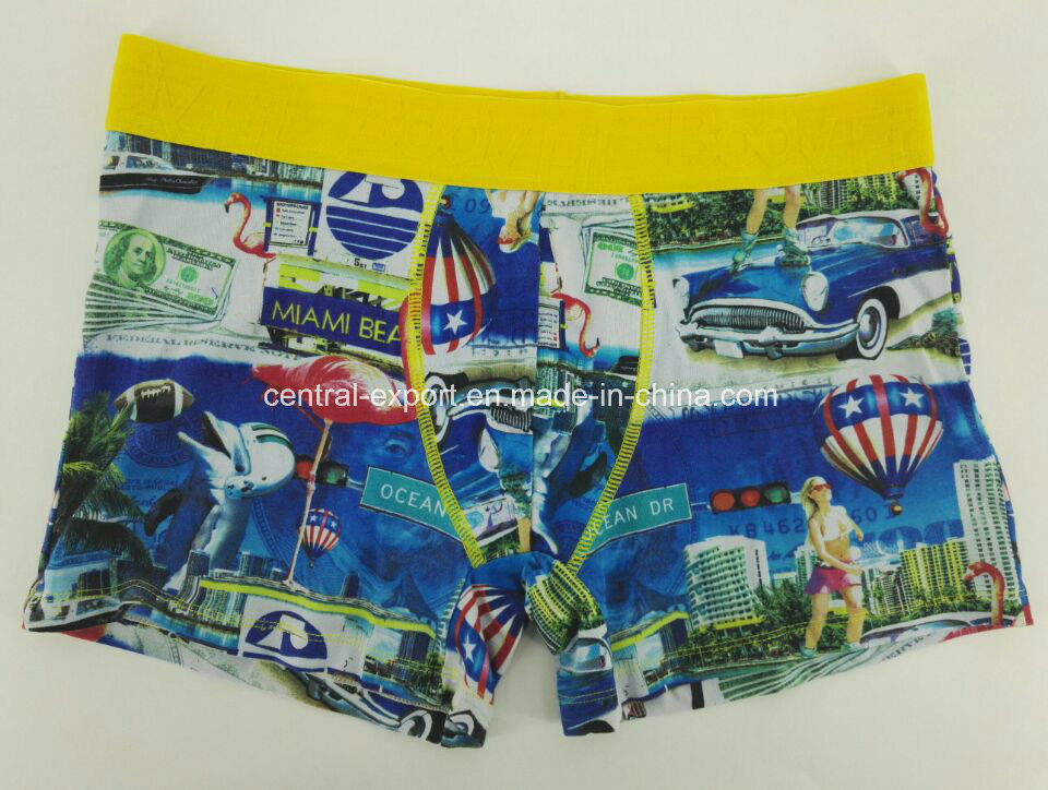 Reactive Print Cotton Youth Men′s Underwear Boxer Brief