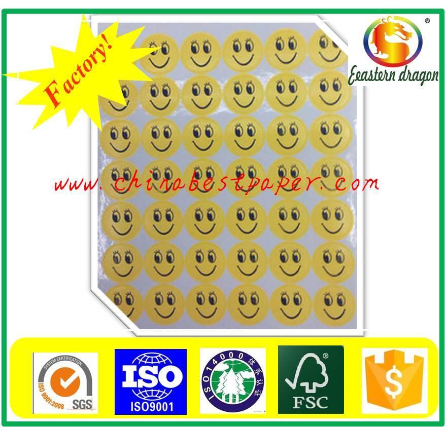 90g White Color Sticker Tag Paper