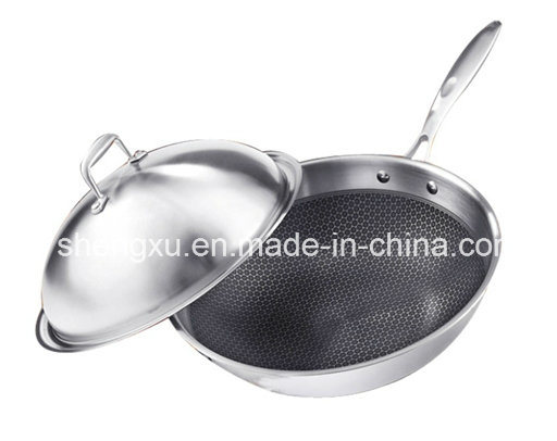 Non-Stick Stainless Steel Wok Cookware (SX-KS009)