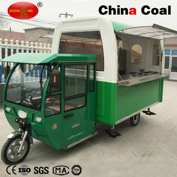 Stainless Steel Mobile Fast Food Selling Truck