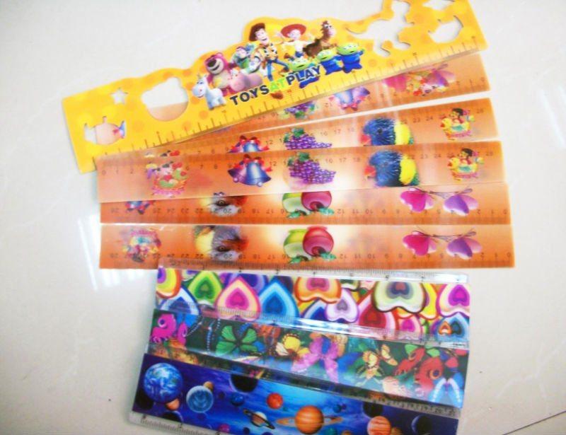 Plastic 3D Lenticular Ruler for Promotion