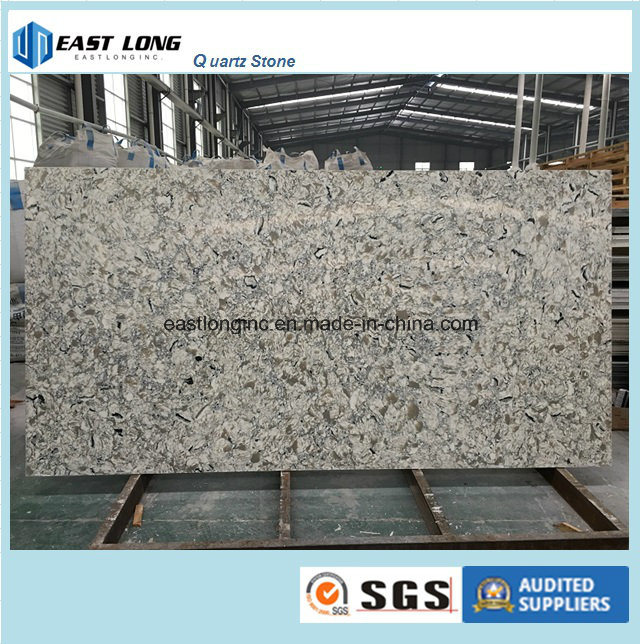 Marble Color Quartz Slab Building Material for Solid Surface/ Kitchen Top