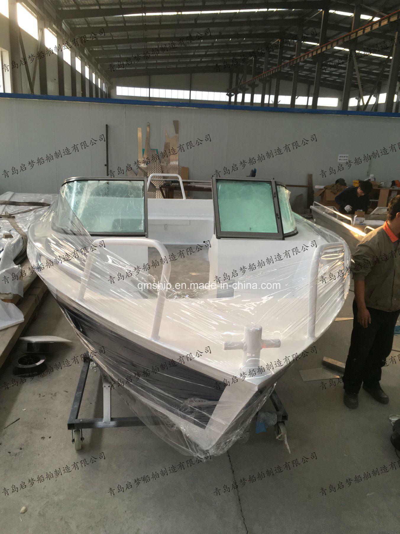 18FT 5.65m Factory Supply Aluminium Leisure Fishing Yacht