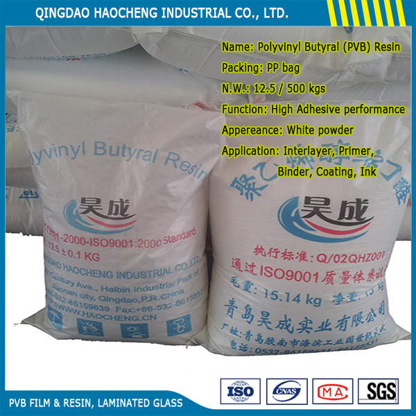 High Viscosity PVB Resin for Clear Laminated Glass Interlayer