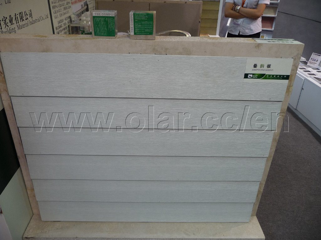 Cement Board Panels : Fiber cement board ce approved siding wood grain panel