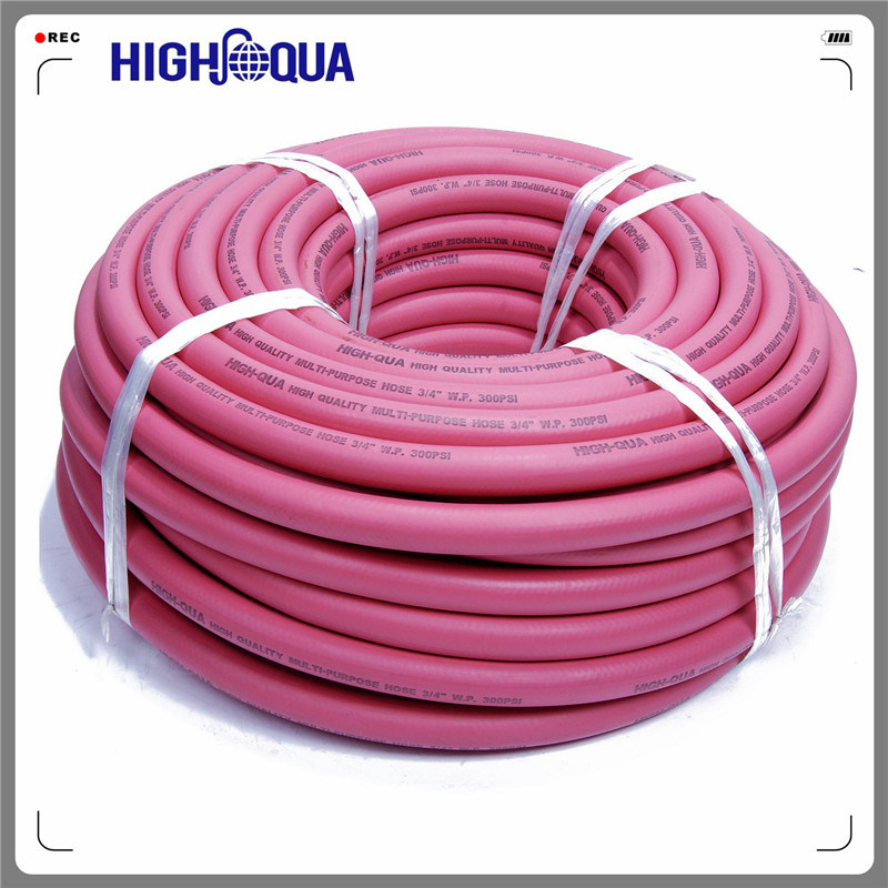 Multi-Purpose Smooth Surface and Cloth Surface Colorful Rubber Hose, Firber Braided Flexible Rubber Hose