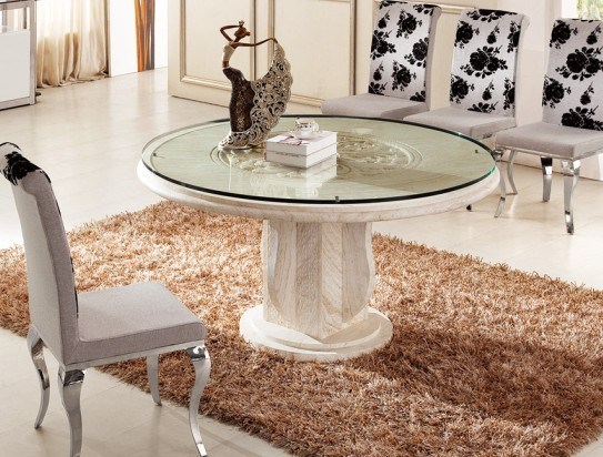Dining table luxury glass top dining table for Luxury glass dining tables