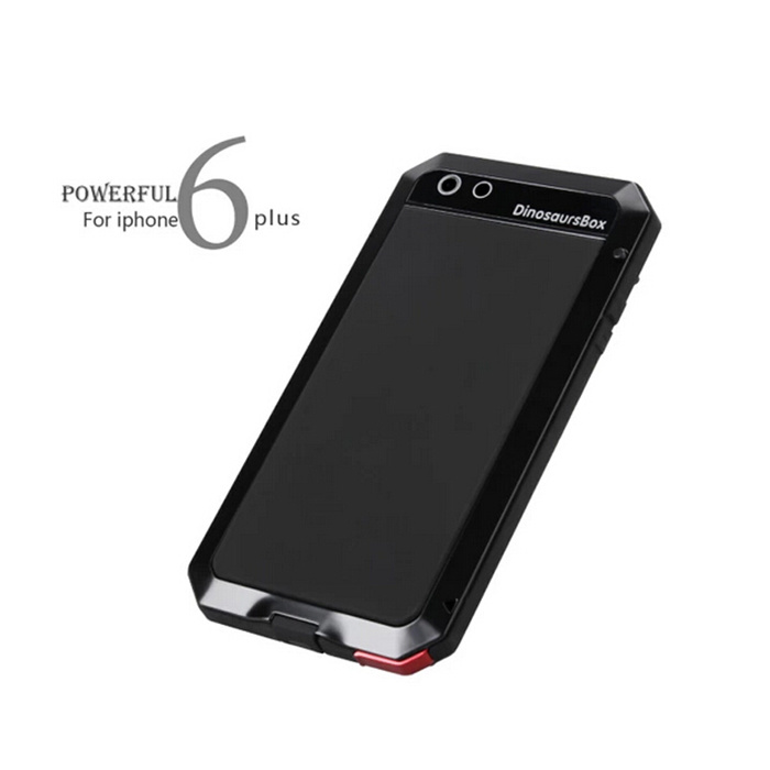 Powerful Metal Sillicone Three Proofing Case for iPhone 6 Plus Mobile Phone