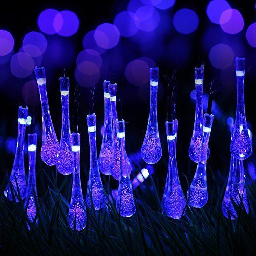 Blinking Decorational LED Light Strip Sun Power Solar Panel Christmas Lights with Low Price