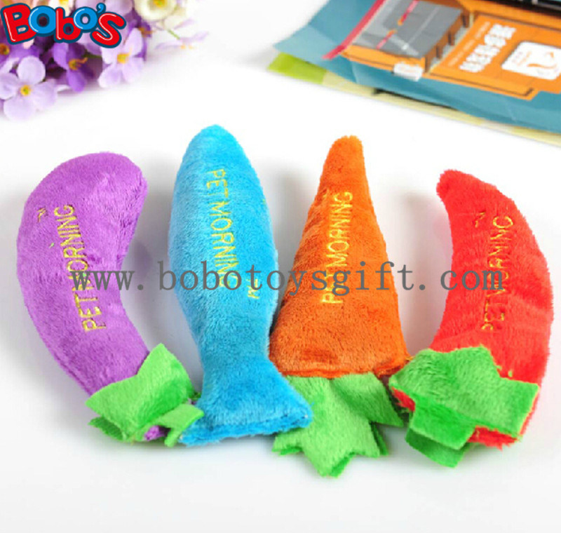 Plush Stuffed Vegetable Shape Pet Cat Toy with Squeaker Bosw1082/16cm