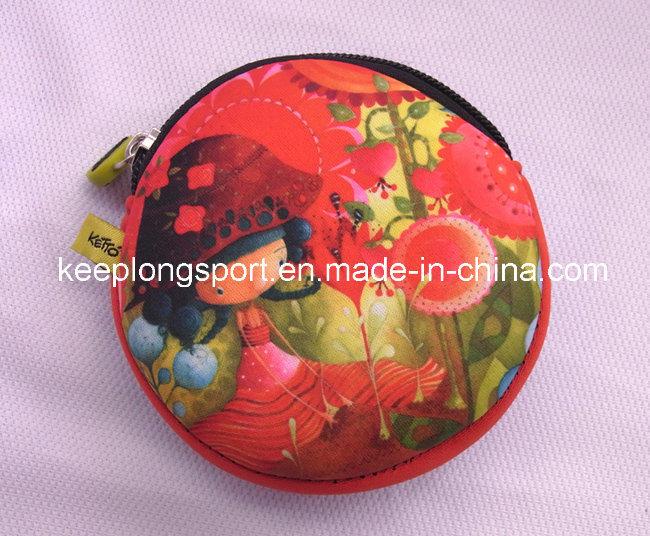 Full Color Printing Neoprene Coin Cases for Women