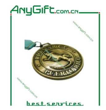 Stamping or Die Casting Metal Medal/ Coin with Antique Brass Plating