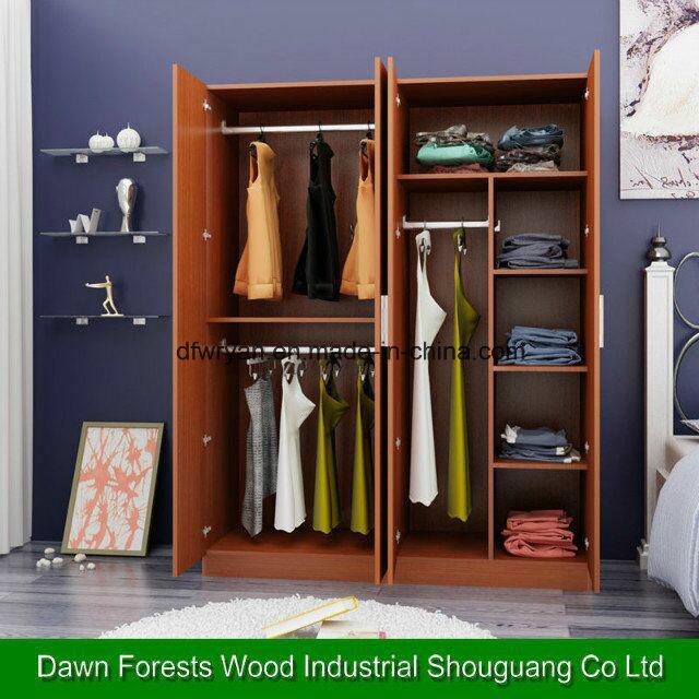 Melamine Chipboard/Particle Board Bedroom Wardrobe