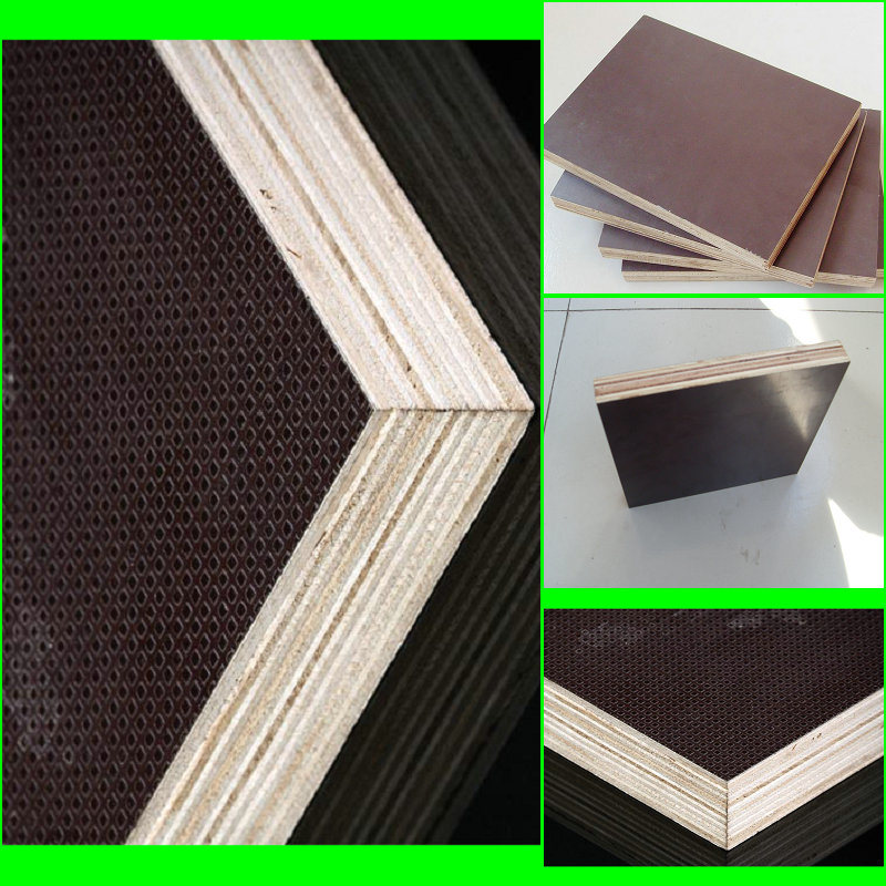 1220X2440mm Poplar Core Film Faced Plywood Used in Construction